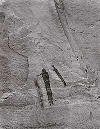 two figures in petroglyph